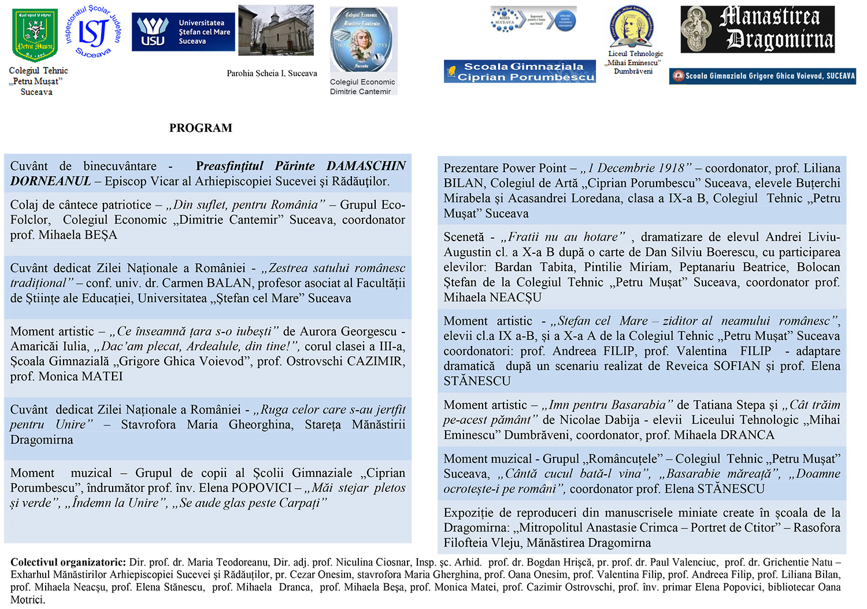 1 Decembrie – Ziua Națională a României și Sfântul Apostol Andrei, Ocrotitorul României Mari