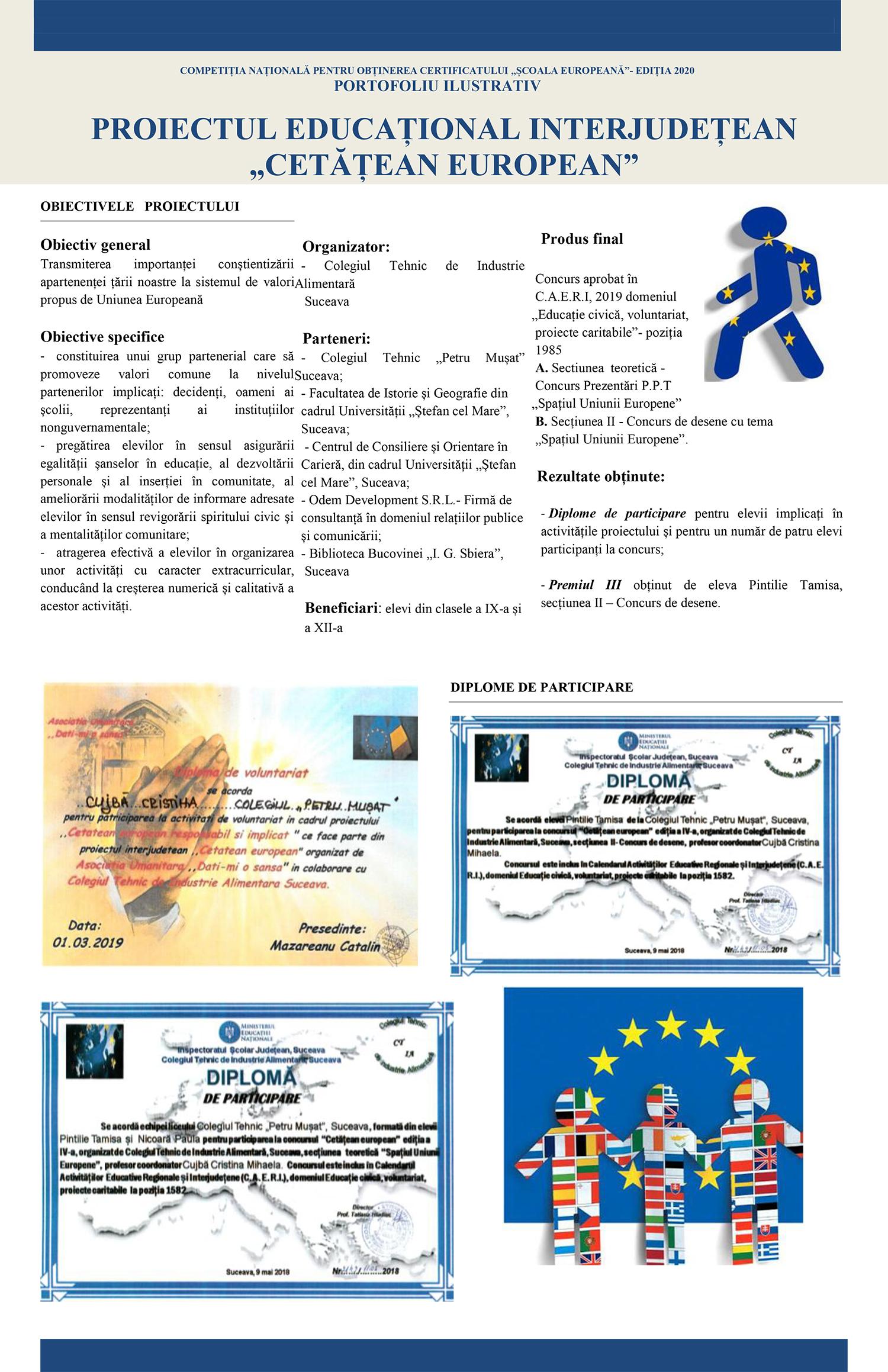 ZIUA EUROPEI - CETĂȚEAN EUROPEAN